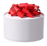 Gift box with red ribbon bow Royalty Free Stock Image