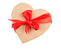 Gift box and red ribbon Stock Photography