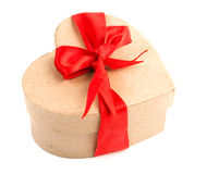 Gift box and red ribbon Royalty Free Stock Image