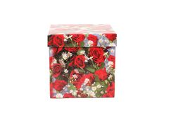 Gift box with red roses Royalty Free Stock Images