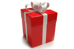 Gift box red Stock Images