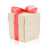 Gift box. With redribbon with refflection Royalty Free Stock Images