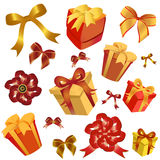 Gift box and ribbon Royalty Free Stock Photography