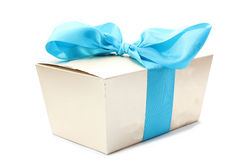 Gift box ribbon Stock Image