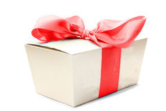 Gift box ribbon Royalty Free Stock Image
