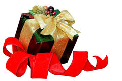 Gift box and Ribbon Stock Photography