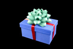 Gift box and ribbon Stock Images