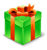 Gift box with ribbon Stock Image
