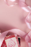 Gift box and ribbon Royalty Free Stock Photo