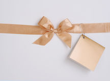 Gift box ribbon Royalty Free Stock Photos