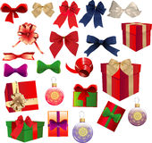 Gift box, ribbon & bow Royalty Free Stock Photography