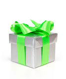 Gift box with ribbon and bow Royalty Free Stock Photos