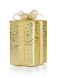 Gift box with ribbon and bow Royalty Free Stock Photo