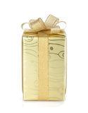 Gift box with ribbon and bow Royalty Free Stock Images