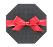 Gift box with ribbon bow Royalty Free Stock Image