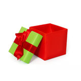 Gift box with ribbon and bow. Present Stock Photo