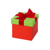 Gift box with ribbon and bow. Present Stock Images