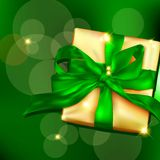 Gift box with ribbon and bow. Royalty Free Stock Images