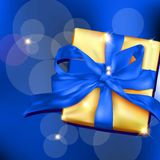 Gift box with ribbon and bow. Stock Photo