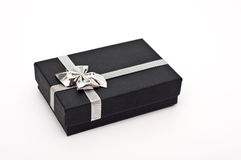 Gift box with ribbon box isolated Stock Image