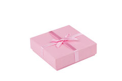 Gift box with ribbon; Clipping path Stock Photos