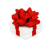 Gift box with ribbon end bow Stock Images
