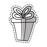 Gift box ribbon event celebrate linea shadow Royalty Free Stock Photo