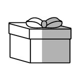 Gift box ribbon event celebrate shadow Royalty Free Stock Image