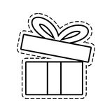 Gift box ribbon festive open cut line. Illustration eps 10 Royalty Free Stock Images