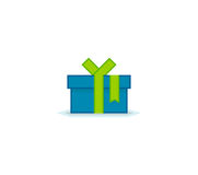 Gift box with ribbon Stock Images