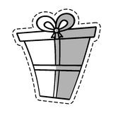 gift box ribbon give party linea shadow Royalty Free Stock Image