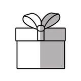 gift box ribbon give party shadow Stock Photos