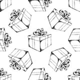 Gift box with ribbon Royalty Free Stock Images