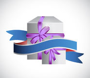 Gift box and ribbon illustration design Royalty Free Stock Images