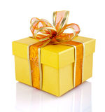 Gift box with ribbon Stock Photo