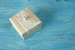 Gift box with ribbon Stock Photo