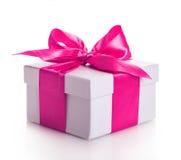 Gift box ribbon red Royalty Free Stock Image