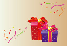 Gift box, ribbon Royalty Free Stock Image