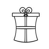 Gift box ribbon wedding present linear Stock Photos