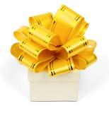 Gift box with ribbon Royalty Free Stock Photos