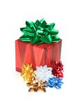 Gift box and ribbons Royalty Free Stock Photography