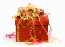 Gift box and ribbons Royalty Free Stock Image