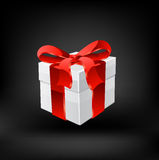 Gift box with ribbons. Vector Royalty Free Stock Images