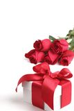 Gift box and rose Stock Photo