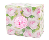 Gift box with roses Royalty Free Stock Photography