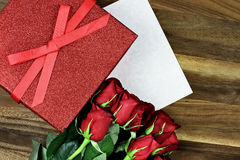 Gift Box with Roses Royalty Free Stock Image