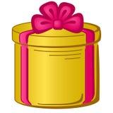 Gift box round Stock Photos