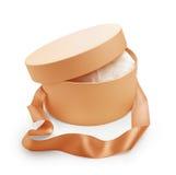 Gift box round shape Royalty Free Stock Images