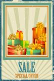 Gift Box in Sale Royalty Free Stock Images