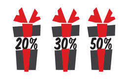 Gift box sale icons Royalty Free Stock Photography